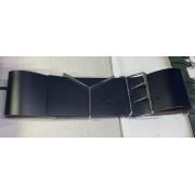 Широкий ремень с металлической пряжкой (Черный)