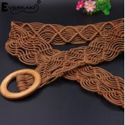 Вязаный пояс из вощеной веревки (Коричневый)