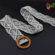Вязаный пояс из вощеной веревки (Серый)