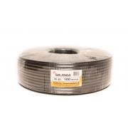 Коаксиальный телевизионный кабель морозостойкий RG6 SELENGA 100м (Черный)