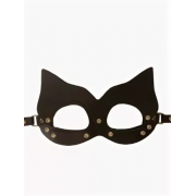 """Кожаная маска """"Кошка"""" (Черный)"""
