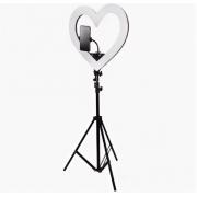"Кольцевая лампа на штативе ""Сердце"" 6 видов подсветки 48 см"