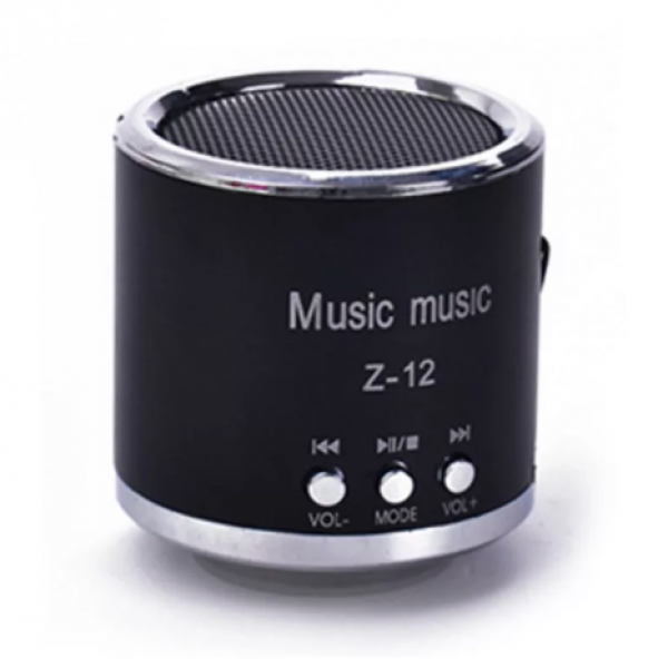 Портативный беспроводной динамик Z-12 с fm-радио и поддержкой MP3 (Черный)