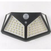 Широкоугольная настенная солнечная лампа 100leds 600LM с датчиком движения (Черная)