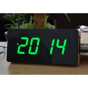 Светодиодные настольные цифровые часы-будильник (Зеленые)