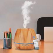 Ультразвуковой увлажнитель воздуха из древесины с диффузором эфирного масла (Светлое дерево)