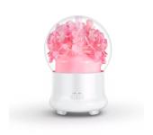Ультразвуковой увлажнитель воздуха с цветами и с диффузором эфирного масла (Розовый)