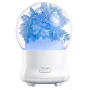 Ультразвуковой увлажнитель воздуха с цветами и с диффузором эфирного масла (Синий)