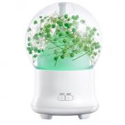 Ультразвуковой увлажнитель воздуха с цветами и с диффузором эфирного масла (Зеленый)