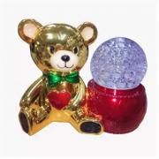 """Светодиодная лампа на подставке """"Мишка"""" (Золотая)"""