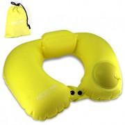 Надувная подушка Pictet Fino RH76 U-образная (Желтый)