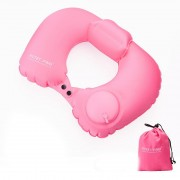 Надувная подушка Pictet Fino RH76 U-образная (Розовый)
