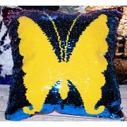 Подушка антистресс с пайетками Бабочка