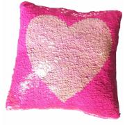 Подушка антистресс с пайетками Сердце
