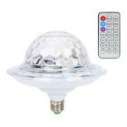 Светодиодный дискошар в патрон LED UFO Bluetooth Crystal Magic Ball RZ-518