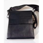 Классическая мужская сумка через плечо (Черная)