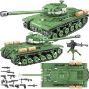 Конструктор Тяжелый танк ИС-2М IS-2M Heavy Tank (Зеленый)