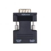 Переходник конвертер HDMI to VGA звук audio Jack (Черный)