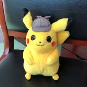 Мягкая игрушкав стиле Покемон Детектив Пикачу 30 см (Желтая)