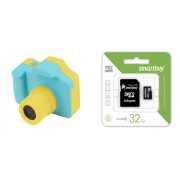 Набор Детский цифровой фотоаппарат Winait 3 MP (голубой) в комплекте с Картой памяти MicroSD 32 Gb Class 10 Ultra