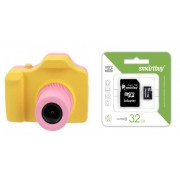 Набор Детский цифровой фотоаппарат Winait 3 MP (розовый) в комплекте с Картой памяти MicroSD 32 Gb Class 10 Ultra