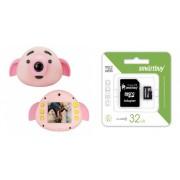 Набор Детский фотоаппарат Pig Shaped (розовый) в комплекте с Картой памяти MicroSD 32 Gb Class 10 Ultra