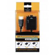 Адаптер HDMI-VGA + Audio (Черный)