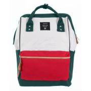 Городской рюкзак с ручками Anello (Зеленый с красным)