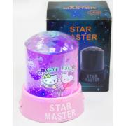 Ночник-проектор Звездное небо Star Master в стиле Hello Kitty (Розовый)