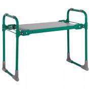 Скамейка садовая Nika СКМ/3 складная с мягким сиденьем (Зеленый)