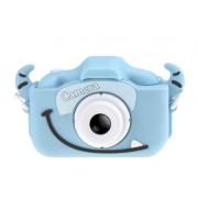 Детская цифровая мини камера фотоаппарат Fun camera Бычок (Голубой)
