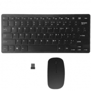Комплект Bluetooth мышь + клавиатура Mini (Черный)