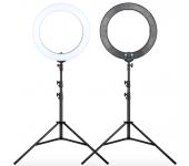 Кольцевая лампа 18 inch led ring light 45 см со штативом (Черная)