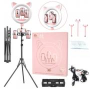 Лампа кольцевая с ушками 45 см RK-45 (Розовая)