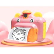 Детская фотокамера Leilam с мгновенной печатью снимков (Розовая)
