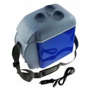 Мини-туристический автомобильный холодильник 7.5л 12В (Синий)