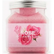 Скраб для тела и лица Pretty Cowry ROSE с экстрактом Розы 350мл