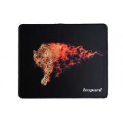 Коврик для мыши H8 Пылающий Леопард 25*29см (Черный)