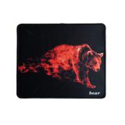 Коврик для мыши H8 Пылающий Медведь 25*29см (Черный)
