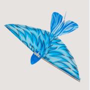 Летающая птичка с пультом дистанционного управления (Голубая)