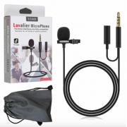 Микрофон Lavalier Jack 3.5 JH-043-A с дополнительным разъемом AUX Jack 3.5 (Черный)