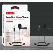 Микрофон с выходом Jack 3.5mm Lavalier GL-119 (Черный)