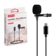 Микрофон с выходом Lightning Lavalier GL-120 (Черный)