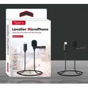 Микрофон с выходом USB Type-C Lavalier GL-121 (Черный)
