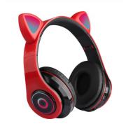 Наушники светодиодные кошачьи уши HL89 Cat ear (Красные)