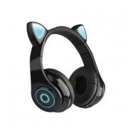 Наушники светодиодные кошачьи уши HL89 Cat ear (Черные)