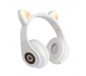 Наушники светодиодные кошачьи уши Cat ear (Белые)