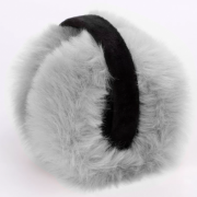 Складывающиеся меховые наушники (Серые)