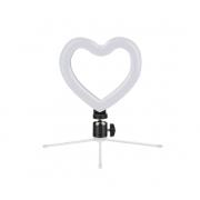 Светодиодный кольцевой светильник с пультом управления в форме Сердца (Черный)