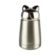 Термос Hello Dream Модный кот 300 мл (Золотой)